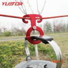 Brand YUETOR round shape multifunction outdoor tent hook aluminum alloy red accessori camp
