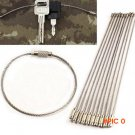 5pcs/lot Outdoor Camping Edc gear Multifunctional Wire Rope Key Ring & Stainless Steel