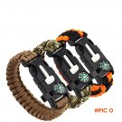 Outdoor paracord Parachute Fire Starter Whistle Gear Ignition Equipment Rescue Rope Escape