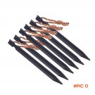 6pcs/lot 18cm 700I Aluminium Alloy Tent Peg Nail Stake with Rope Camping Equipment Outdoor