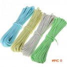 15m/50ft Outdoor Rock Climbing Ropes Camping Accessory Luminous Parachute Cord Wire Travel