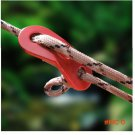 100pcs/lot Outdoor Camping Hiking Wind Rope Buckle Aluminum Alloy Tent Wind Stopper Tent R