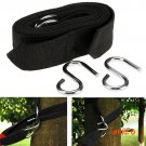 Sport Outdoor Camping Hiking Hammock Hanging Belt Hammocks Strap Rope with Metal Buckle Ho