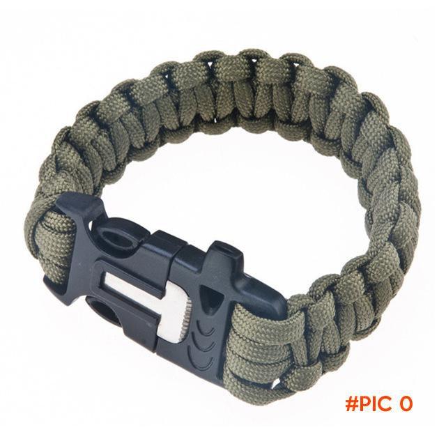 Leo Travel Kit Flint Fire Starter Whistle,Outdoor Camping Survival Buckle Gear Equipment,P
