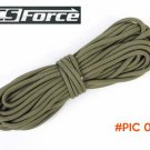 30FT Camping Hiking Paracord Parachute Cord Lanyard Rope Mil Spec Type III 7Strand Climbin