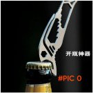 EDC camping equipment Stainless steel pocket card tool Multifunction Opener Wrench Screwdr