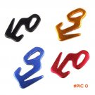 10pcs Outdoor Camping Mountaineering 9 Shaped Aluminum Tight Bundle Tent Wind Four-Color C