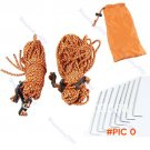 8pcs Outdoor Camping Hiking Tent Pegs Stakes + 6pcs Climb Cord Rope String Kit New BC1986