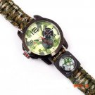 1pc Multicam Outdoor camping Travel Kit Watch With survival Flint Fire starter paracord Co