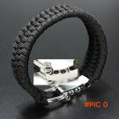 ParaCord Rope Outdoor Camping Survival Bracelet Weave 7-Stand Alloy Buckle BC2015