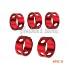 10 pcs/lot Outdoor Camping Red Aluminum Tent Rings Round Cord Guyline Runners Rope Tension