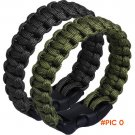 40pcs/lot Outdoor Handmade Paracord Bracelet Hiking Camping Rescue Rope Survival Kit BC2074