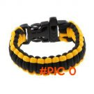 Camping Paracord 550 Parachute Cord Emergency Survival Bracelet Rope Whistle Buckle New St
