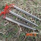 HOT!!!Axeman Aluminium Alloy Tent Peg 160mm V-shaped Camping Nail with Rope Outdoor Travel