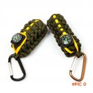 Multi function Parachute Cord Keychain Key Ring  Survival Kits Outdoor Climbing Camping Um