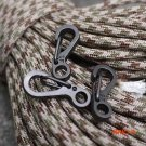 10 Pcs SF Classic Mini Keychain Spring Clasps Carabiners For Key Ring Camping Bottle Hooks