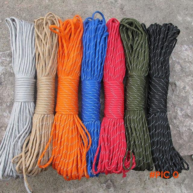 200 FT / 62 Meters Paracord Rope 550 Cuerda Escalada Mil Spec Type 4 Strand Outdoor Campin