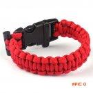 Hot Rope Paracord Survival Bracelet Flint Fire Starter Compass Whistle BC2334