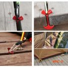 4Pcs Tent Nail Pegs New Aluminium Alloy Stake Deck Hook Wind Rope Anchor Bone Camping Outd