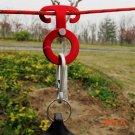 Hanging Hook 3pcs/set  Aluminum Alloy Carabiner Outdoor T-Shaped Self-Locking Hooks Travel