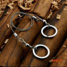 1pc Outdoor Useful Stainless Steel Wire saw Chain Rope Saw Ring Scroll Emergency Travel ca