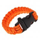 JHO-Paracord Parachute Cord Emergency Kit Survival Bracelet Rope with Whistle Buckle Outdo