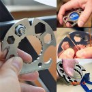 Multi Function Outdoor Card EDC Multi Tools Screwdriver Hex Wrenches Bottle Opener Rope Cu