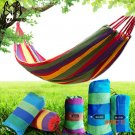 Outdoor camping leisure swing hammock camping hammock thickening canvas color stripe send