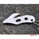 Outdoor Camping Survival Gear Tools Multi-functional Rope cutter Bottle opener Key Chain L
