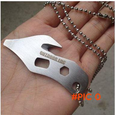 Outdoor camping EDC 440C Stainless Steel multi-tool Mini screwdriver Allen wrench keychain