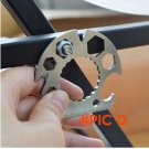 EDC Outdoor camping Multi-Portable Pocket Tools Stainless Steel hex wrench Opener rope cut