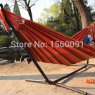 Free Shipping Muti-color Portable Camping Tourism Cotton Rope Swing Fabric Stripes Single