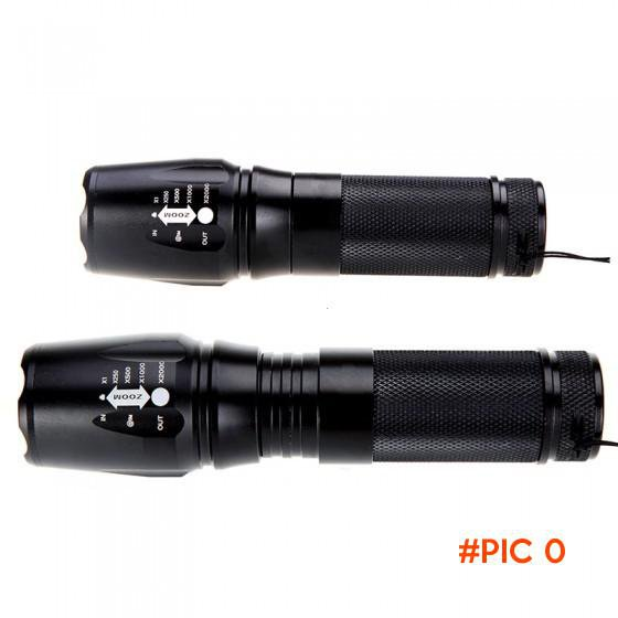 Zoomable XM-L T6 Black 2000Lm Powerful LED Flashlight lamp LED torch linternas with Hang R