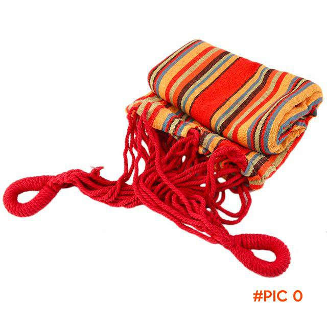 2016 New Portable Hammock Cotton Rope Outdoor Travel Swing Camping Hanging Canvas Bed Good