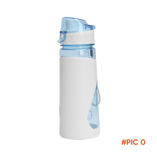 Fashion Portable Plastic Water Bottle Outdoor Sports Sealed Travel Kettle Cycling Bike Cam