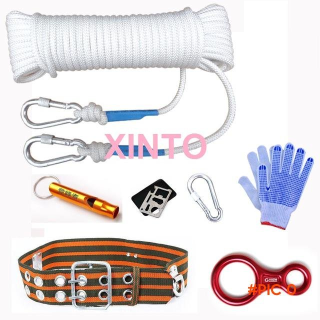 8MM,10M outdoor safety rope rock climbing mountaineering camping hiking tool outdoor trave