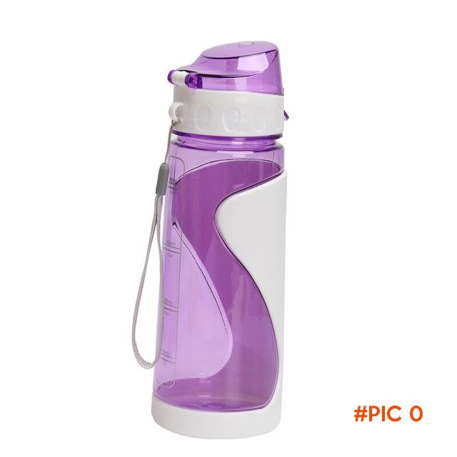 Outdoor Plastic Cycling Camping Drinking Water Bottle Fruit Juice Bottle 700ml Purple/Blue BC2634