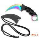 CS GO Counter Strike Karambit Claw Neck Knife Sheath hunt camp hike tactical fight survive