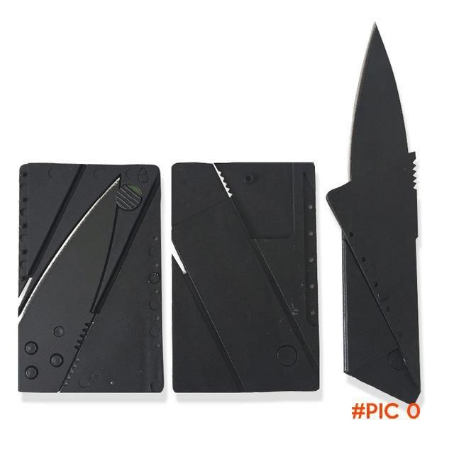 2 PCS Card Knife Folding Knife Credit Card Tool Mini Wallet Camping Outdoor Pocket Tools T