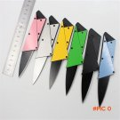 3rd Credit Card Wallet Folding Safety Metal Knife Steel Handle Sharp Blade Tactical Rescue
