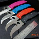 "Custom C12 knife C12SBK2 Matriarch2 Folding Knife 3-5/8"" VG10 Serrated Blade knife Ta"