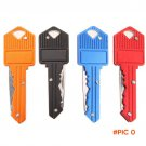 Protable Key Fold Pocket Outdoor Chain Knife Peeler With Aluminum Handle Camping Key Ring