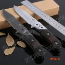 COLT Titanium Knife Blade Camping Hunting Straight Knife Cutter Wood Handle Tactical Fixed