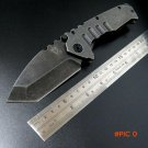 Efeng MDF-3 folding knife Stonewash Steel Handle 440 Blade Hunting folding knife Outdoor c