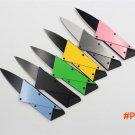 Steel metal handle Card Knife Folding Knife Credit Card Tool Mini Wallet Camping Outdoor P