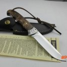 fixed blade shadow wood handle straight knife 58HRC 7Cr17mov outdoor hunting  fixed blade
