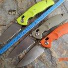 2016 new design F3 Bearing system Floding knife stone wash D2 blade black G10 handle outdo