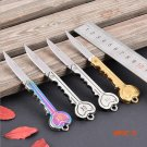 1pc Portable Key Shaped Folding Camping Knife Stainless Steel Blade  Keychain Pocket Outdo
