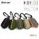 NEW EDC GEAR Carabiner Grenade 550 Paracord Outdoor camping Survival Kit Fishing Kit with