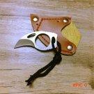 Small Protable MC Knife Home Outdoor Survival Self-defense Mini Claw Knife Leather Sheath